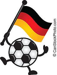 soccer ball and flag