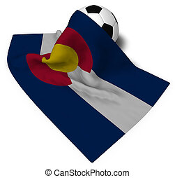 soccer ball and flag of colorado - 3d rendering