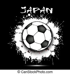 Soccer ball and Japan flag