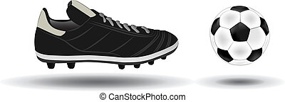 soccer ball and shoes vector illustration