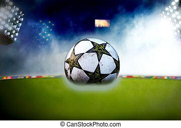 Soccer ball at the stadium