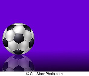 soccer ball background purple
