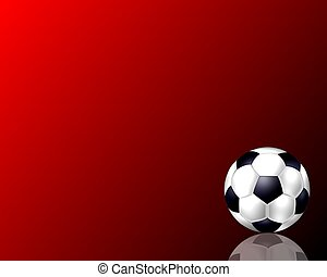 soccer ball background red