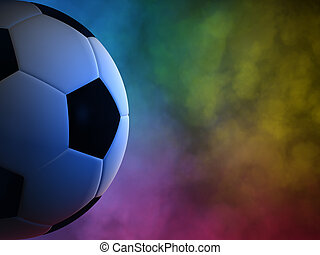 Soccer ball background - Soccer ball in the background of...