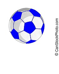 Soccer Ball card in Blue and white color Background