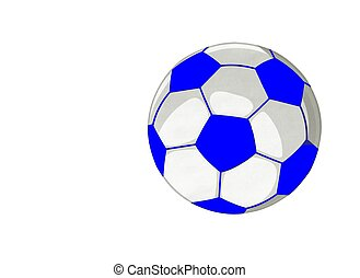 Soccer Ball card in Blue and white colors Background