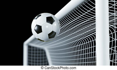 Soccer Ball Bounces Off the Bar in Slow Motion. Beautiful...