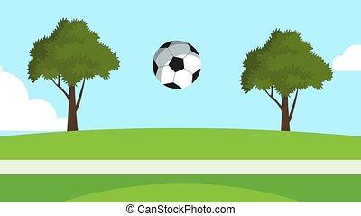 Soccer ball bouncing HD animation