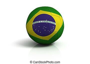 Soccer ball brazil on white background