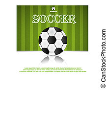 Soccer ball. Brazil world cup football 2014.