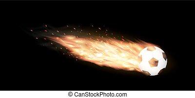 soccer ball burning