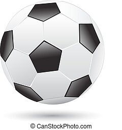 Soccer ball - Classic soccer ball isolated on the white ...
