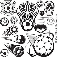 Soccer Ball Collection - A clip art collection of soccer...