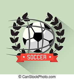 soccer ball competition award wreath sport