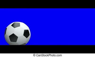 Soccer ball demolishing a Letterbox - chroma key added