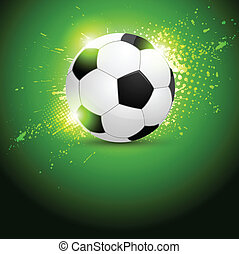 Soccer ball design - Grunge dessign with soccer ball. Brazil...