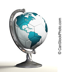 soccer ball desktop globe with american continent