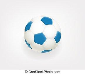 Soccer ball emoji isolated on white background