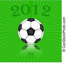 Soccer Ball Euro 2012 - background vector