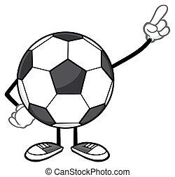 Soccer Ball Faceless Pointing