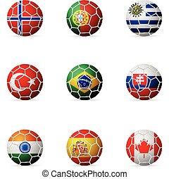 soccer ball flag