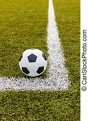 Soccer ball ,Football Artificial grass with white stripe