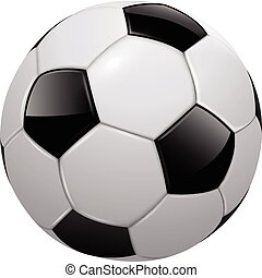 Soccer ball, football isolated, realistic vector ...