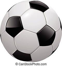 Soccer ball, football isolated, realistic vector ...