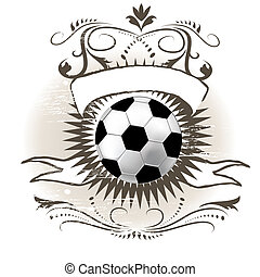Soccer ball (football) on grunge background