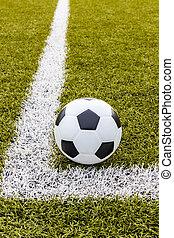 Soccer ball ,Football on the corner