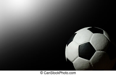 Soccer ball football sport for play game and for text and message design