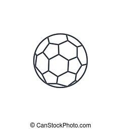 soccer ball, football thin line icon. Linear vector symbol