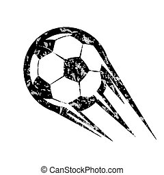 soccer ball, football vector symbol, in grunge style
