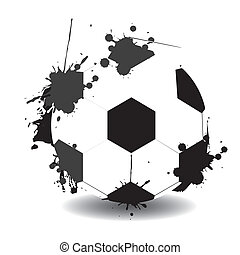 Soccer ball formed with paint stains