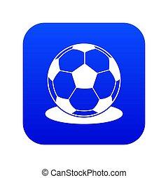 Soccer ball icon digital blue