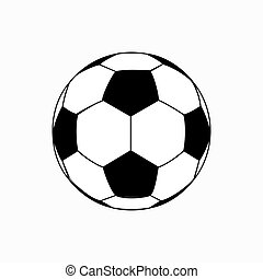 Soccer Ball Isometric 3d Icon On Transparent Background