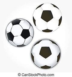 soccer ball icon set. Football