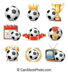 Soccer Ball icon set