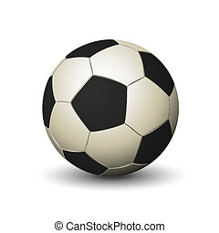 Soccer ball icon white and black color