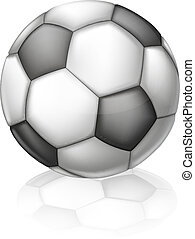 Soccer Ball Illustration - An illustration of a classic...