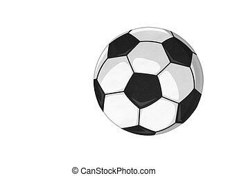 Beautiful black white soccer ball isolated