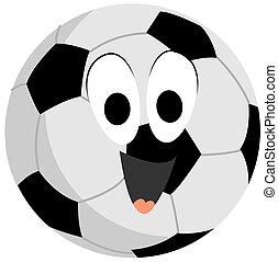 Soccer ball, illustration, vector on white background.