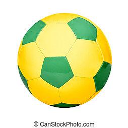 Soccer Ball in Brazilian Colors