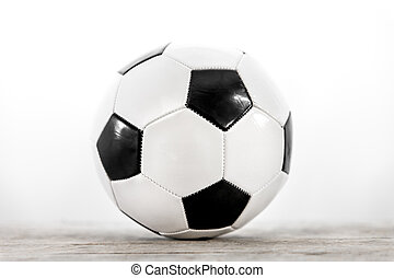 soccer ball in front of white