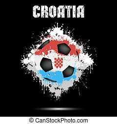 Soccer ball in the color of Croatia
