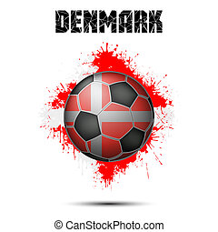 Soccer ball in the color of Denmark