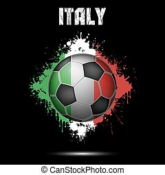 Soccer ball in the color of Italy