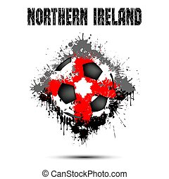 Soccer ball in the color of Northern Ireland