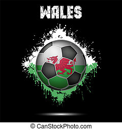 Soccer ball in the color of Wales