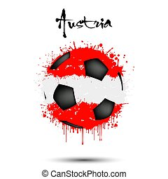 Soccer ball in the colors of the Austria flag